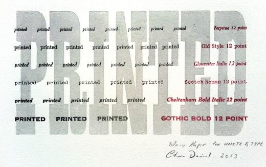 printed unite and type