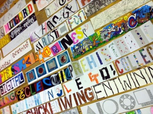 words on floor 05