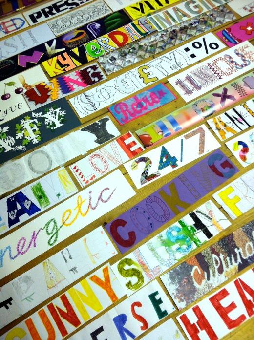 words on floor 07
