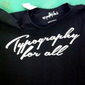 typog for all tshirt