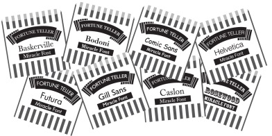 Type Tasting Font Fortunes, Fortune Teller Miracle Font