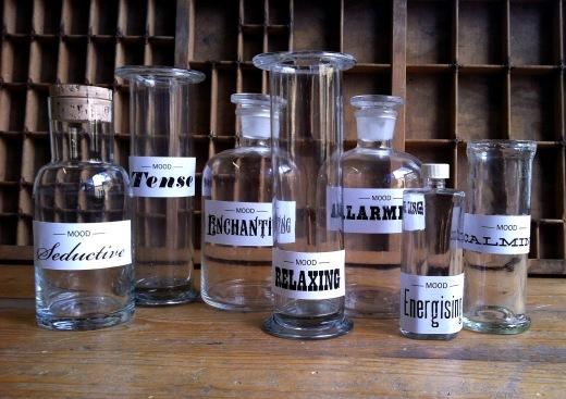 medicine mood bottles