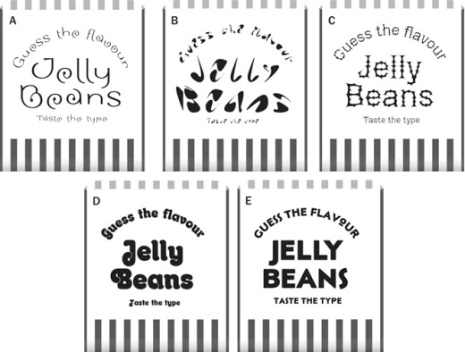 Jelly bean experiment for Letterform Live