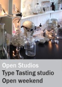 Open Studios weekend in the Type Tasting studio