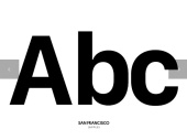 San Francisco, Apple typeface