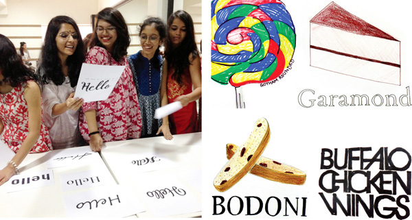 Teaching typography at the Ecole Intuit Lab Mumbai