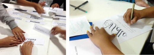 Sarah Hyndman teaching typography at the Ecole Intuit Lab Mumbai